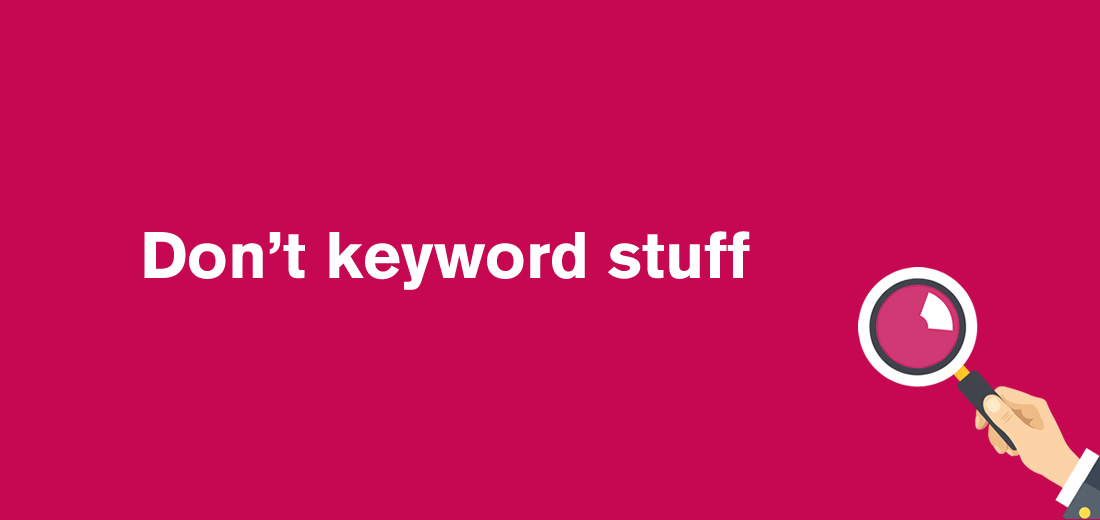 common seo mistakes - keyword stuffing